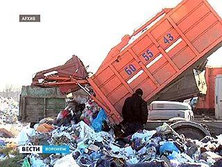 Воронежские коммунальщики не хотят вывозить мусор на новый полигон ТБО