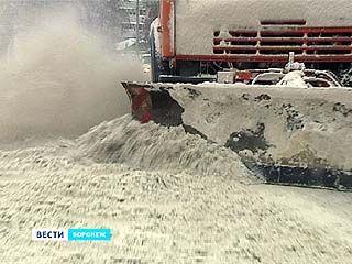 Воронежские коммунальщики оказались не готовы к снежной зиме