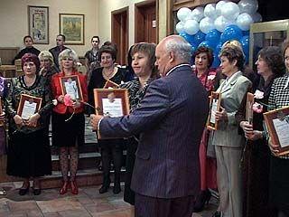 Воронежские учителя принимали поздравления