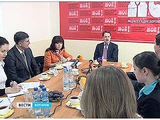 Воронежский губернатор Алексей Гордеев встретился с журналистами