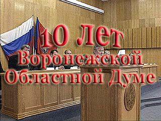 Воронежской областной Думе исполнилось 10 лет