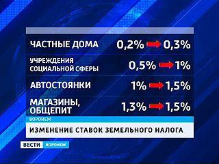 Воронежцы пополнят бюджет города. Гордума увеличила земельный налог