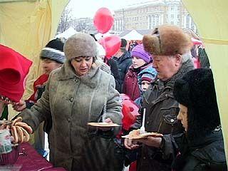 Воронежцы с размахом отпраздновали Масленицу