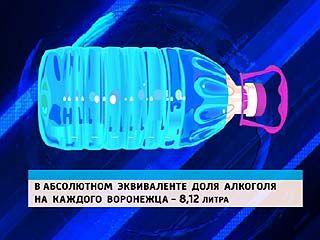 Воронежцы выпивают меньше, чем соседи по ЦФО