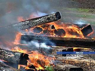 Возникший в Придонском пожар тушить было некому и нечем