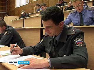 Вступительные экзамены в институт МВД сдают воронежские полицейские
