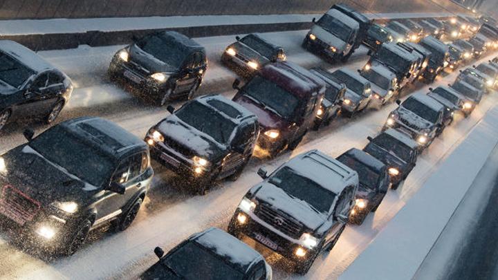Воронежские дороги сковали 9-балльные пробки