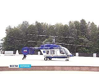 За безопасностью воронежцев с воздуха следит современный вертолет КА-226