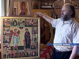 Житель Верхнего Мамона пишет 17 библейских сюжетов на одном квадратном метре