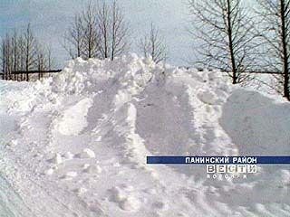 Жители сёл Панинского района отрезаны от мира снегом