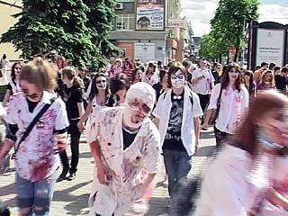 Зомби совершили нашествие на Воронеж