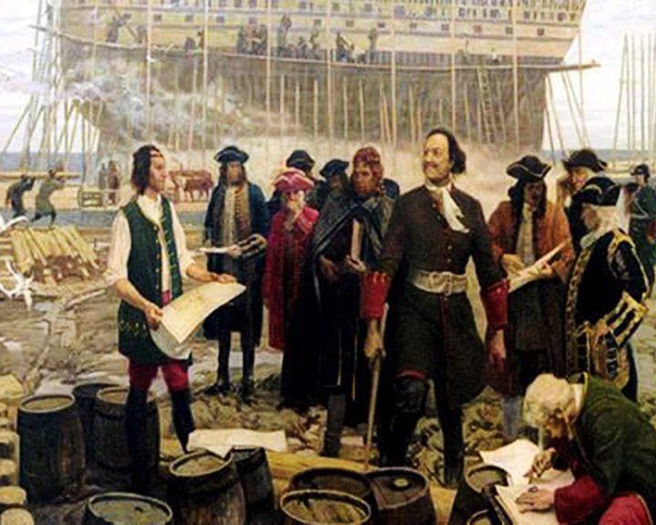 В марте 1696 года Петр I прибыл в Воронеж для строительства военно-морского флота