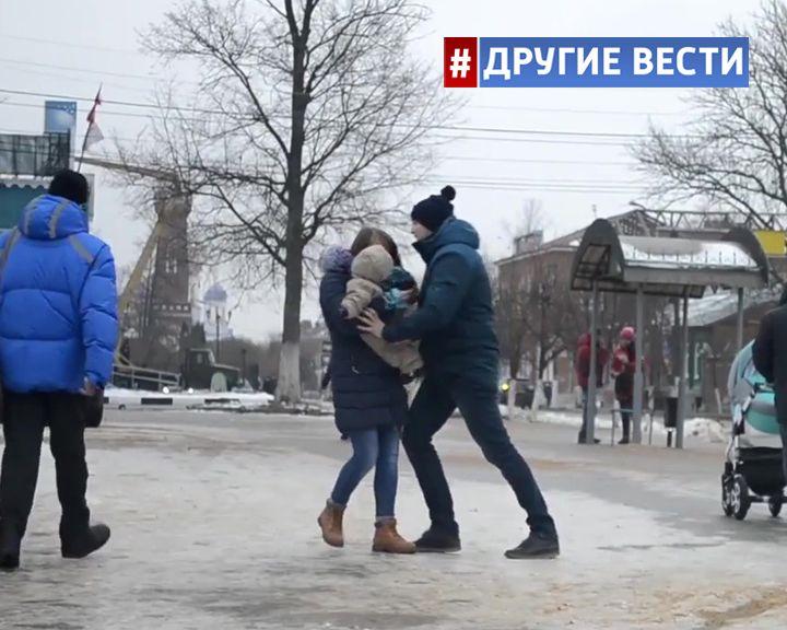 ВИДЕО-ЭКСПЕРИМЕНТ: Избиение женщины с ребёнком не тронуло жителей Ельца
