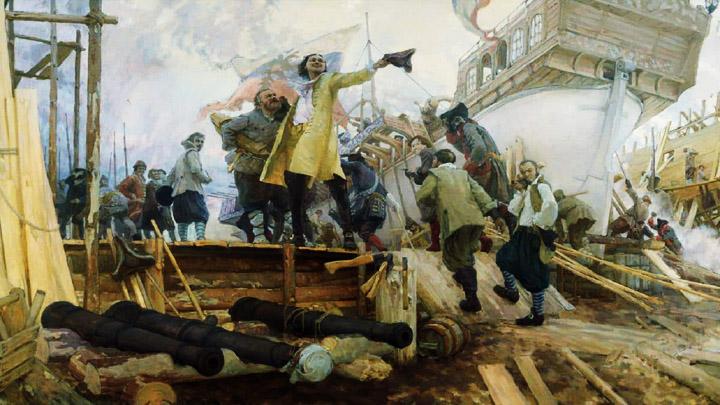Ноябрь 1696 года. Начало строительства регулярного российского флота