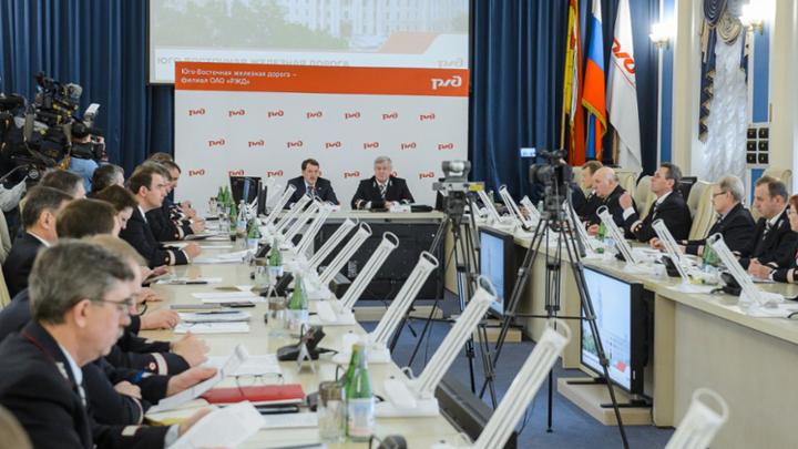 Начальник ЮВЖД Анатолий Володько и губернатор  Алексей Гордеев обсудили перспективы развития транспортной инфраструктуры региона