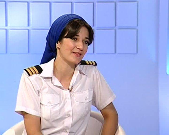 Первая в Чечне девушка-пилот в небе над Воронежем