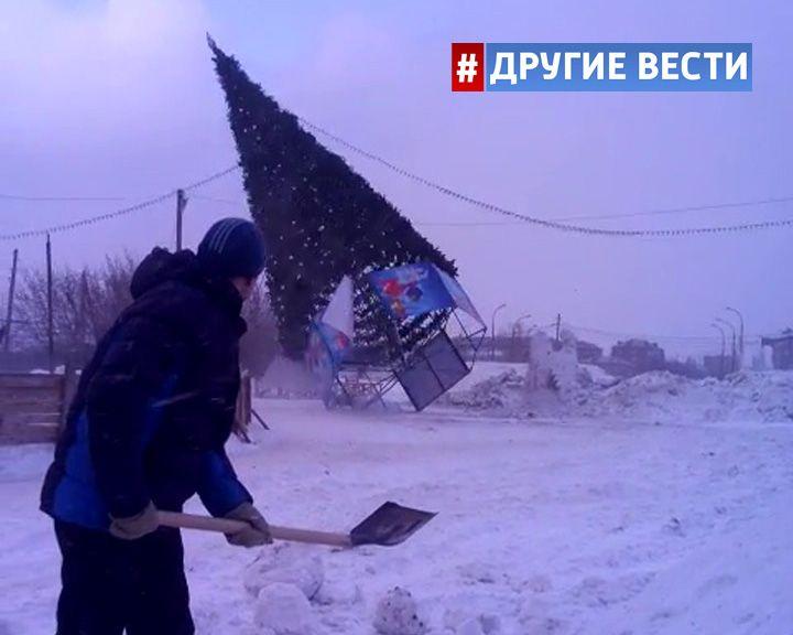 ВИДЕО: Ёлки в России начали падать от зависти к воронежской «мажорке»