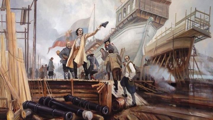 В мае 1700 года на воронежской верфи спустили на воду линкор «Божье Пpедвидение»