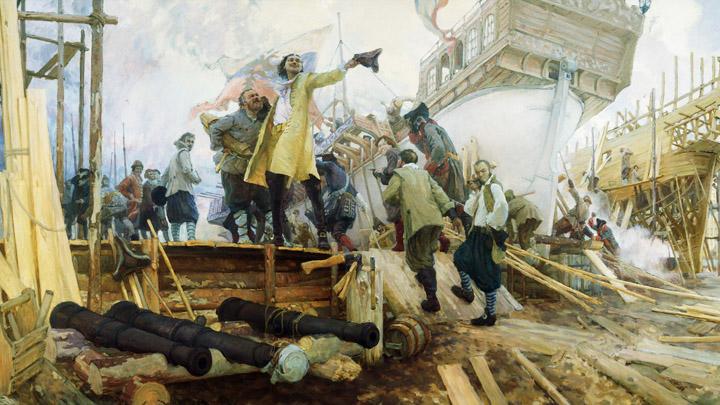 Март 1696 года. Пётр I прибывает в Воронеж для строительства российского военно-морского флота