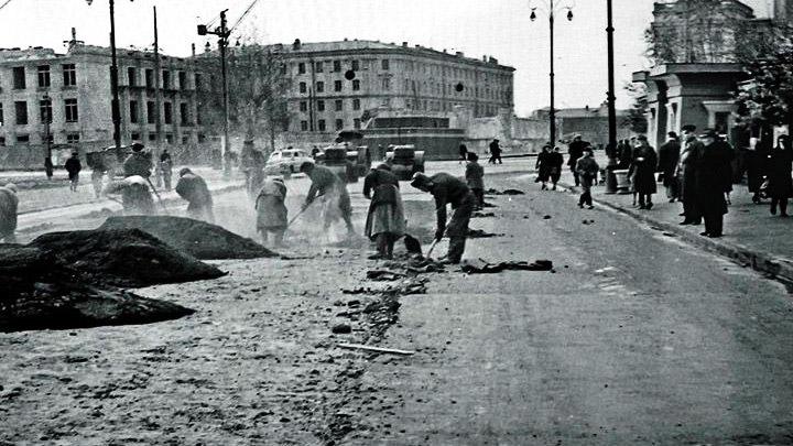 Ноябрь 1945 года. Восстановление Воронежа после Великой Отечественной войны
